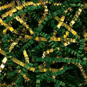 Spring Fill Decorative Filler GC40FG Crinkle Cut, Gold Metallic/Forest Green Paper, 40 Lb. Box