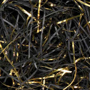 Spring Fill Decorative Filler GV50BK VeryFine Cut, Gold Metallic/Black Paper, 50 Lb. Bale