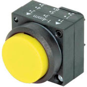Siemens 3SB3000-0BA31 Pushbutton, Momentary, Yellow, Extended Cap, Operator, Round-Plastic