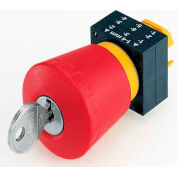 Siemens 3SB3000-1KA20 Pushbutton, Maintained, Red, 40mm, CES Key Operator, Round-Plastic