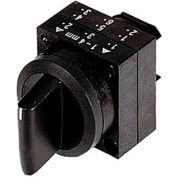 Siemens 3SB3000-2DA11 Selector Switch, Maintained, Black, 3 Position, Round-Plastic, Standard Lever