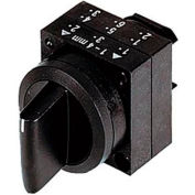 Siemens 3SB3000-2GA11 Selector Switch, Return From Left, Black, 3 Position, Round-Plastic