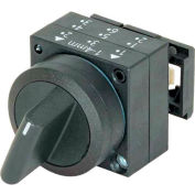 Siemens 3SB3000-2KA11 Selector Switch, Maintained, Black, 2 Position, Round-Plastic, Standard Lever