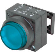 Siemens 3SB3001-0BA51 Pushbutton, Momentary, Blue, Extended Cap, Single Operator, Round-Plastic