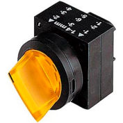 Siemens 3SB3001-2KA31 Selector Switch, Maintained, Yellow, 2 Position, Round-Plastic