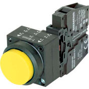 Siemens 3SB3201-0BA31 Pushbutton, Momentary, Yellow, Extended Cap, Complete Unit, Round-Plastic