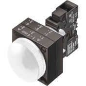 Siemens 3SB3244-6AA60 Pilot, White, Integrated LED, 24V-LED, Smooth