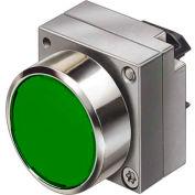 Siemens 3SB3500-0AA41 Pushbutton, Momentary, Green, Flush Cap, Operator, Round-Metal