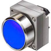 Siemens 3SB3500-0AA51 Pushbutton, Momentary, Blue, Flush Cap, Operator, Round-Metal