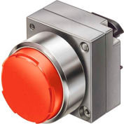 Siemens 3SB3500-0BA21 Pushbutton, Momentary, Red, Extended Cap, Operator, Round-Metal