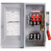 Siemens HFC263 Safety Switch CSA, 100A, 2P, 2W, 600V, Fused, HD, Type 1