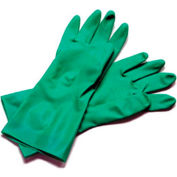 "Dishwashing Glove, Large, 13"", Nitrile Rubber - 12 Pairs, Green"