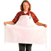 "Extra Wide Bib Apron, 30"" X 40"", Pencil Pocket, White - Pkg Qty 12"