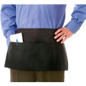 "Chef Revival 605PS-BK - Waist Apron, 12"" x 24"", 3 Pockets, Black"