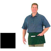 Reversible Waist Apron, 12X24, 3 Pockets On Both Sides, Black
