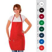 """Chef Revival 612BAFH-RD - Bib Apron, 28"""" x 27"""", 3 Pockets, Red"""