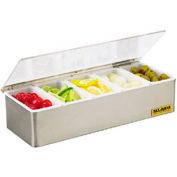 Gourmet®Condiment Tray / (5) Pints W / Plex Lid