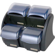 San Jamar® Dome® Stacker - 2/2 Mini Domes: (4) 2 Quart Deep Trays , BDS2401NL