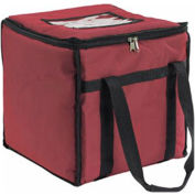 """San Jamar FC1212-RD - Pizza and Food Carrier, Nylon Delivery Bag, Red, Insulated, 12""""W x 12""""D x 12""""H"""