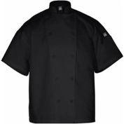 Knife & Steel®Chef'S Jacket, X Small, Short Sleeve, Black