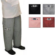 Ladies Cargo Chef'S Pants, Medium, Hounds Tooth