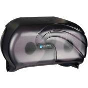 San Jamar Versatwin® Toilet Tissue Dispenser, Oceans Black Pearl - R3690TBK