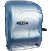 San Jamar Lever Roll Towel Dispenser w/Auto Transfer, Oceans Arctic Blue - T1190TBL
