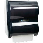 "San Jamar 10"" Simplicity Hands-Free Roll Mechanical Towel Dispenser, Classic Black Pearl - T7100TBK"