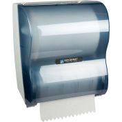 "San Jamar 10"" Simplicity Hands-Free Roll Mechanical Towel Dispenser, Classic Arctic Blue - T7100TBL"