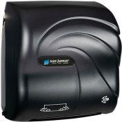 San Jamar Compact Simplicity Hands-Free Mechanical Towel Dispenser, Oceans Black Pearl - T7590TBK