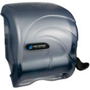 San Jamar Element™ Lever Roll Towel Dispenser, Oceans® Transparent Arctic Blue - T990TBL