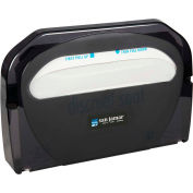 San Jamar Toilet Seat Cover Dispenser, Classic Black Pearl TS510TBK Package Count 10