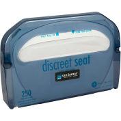 San Jamar Toilet Seat Cover Dispenser, Classic Arctic Blue - TS510TBL