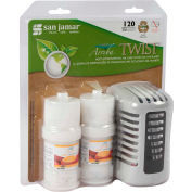 San Jamar Arriba™ Twist Passive Dispenser & 2 Fragrance Combo, Mango Burst - WP1202MB