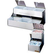 San Jamar® B4706INL, Two Tier Condiment Trays w/Notched Lids, 6 Qts.