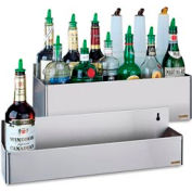 "Stainless Steel Rack Bottle Holders, 7-5/8""h x 21 1/8""w x 8""d"