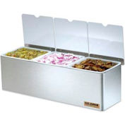 San Jamar® EZ-Chill™ Condiment Center w/Notched Lids, 3 Qts.