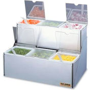 San Jamar® EZ-Chill™ Stepped Condiment Center w/Notched Lids, 6 Qts.