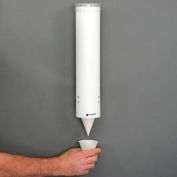 "San Jamar C3165WH - Cup Dispensers, Medium, Pull-Type, White, 16"" Tube, High Impact Plastic"