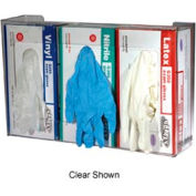 Disposable Glove Dispensers, 3 box capacity white
