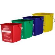 San Jamar® 8 Quart Green Kleen-Pail® - Pkg Qty 12