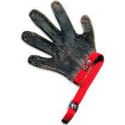 San Jamar MGA515L - 5 Finger, Stainless Steel Mesh, Cut Resistant Gloves, Large