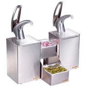 FrontLine™ Countertop Dual Condiment System, Metal Finish