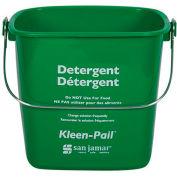 San Jamar® 6 Quart Green Kleen-Pail® - Pkg Qty 12