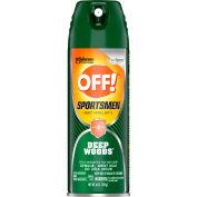 OFF!® Deep Woods Sportsmen Insect Repellent, 6 oz Aerosol, 12/Carton - SJN629374