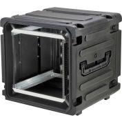 """SKB Cases 20"""" Deep 12U Roto Shockmount Rolling Rack 3SKB-R12U20W Black, Water Resistant"""