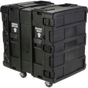 """SKB Cases 24"""" Deep 14U Roto Shock Rack 3SKB-R914U24 Black, Keyed Lock, Water Resistant"""