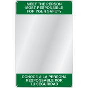 "Se-Kure™ Acrylic Bi-Lingual Safety Message Mirror, 23"" x 15"", ""Meet The Person"", BSM301"