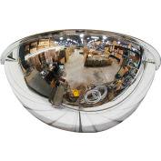 "Se-Kure™ Half Dome Mirror, 18"" Diameter - Pkg Qty 2"
