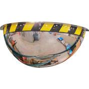 "Se-Kure™ Acrylic Half Dome Mirror with Safety Border, 32"" Diameter"